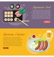 National Cuisine Flat Web Banners Set vector image vector image