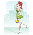 nice woman vector image vector image