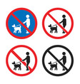 No dogs sign set no dogs allowed icon