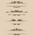 Ornament Border Set vector image