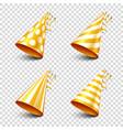 Party shiny hat with ribbon holiday decoration