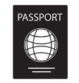 passport icon on white background passport sign vector image vector image