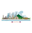 philippines landmarks skyline vector image vector image