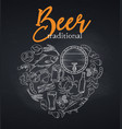 pub food and beer vector image vector image
