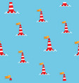 red sea buoy seamless pattern vector image