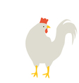 Rooster turned his head vector image vector image
