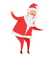 santa claus with stretched arms isolated on white vector image vector image