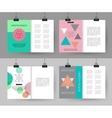 Set of colorful vintage cards with hipster vector image vector image