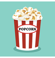 set of popcorn flat design vector image