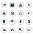 set of simple property icons elements high-rise vector image vector image