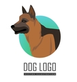 Shepherd Dog Logo on White Background vector image vector image