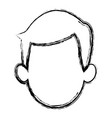 sketch of the man character faceless portrait vector image