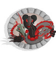 slavic mythology beast vector image vector image