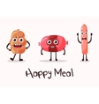 smiling meat cartoon character vector image vector image