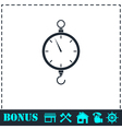 Spring scale icon flat vector image vector image