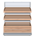 Supermarket Bread Shelf vector image