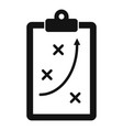 tactical clipboard icon simple style vector image vector image