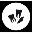 three human teeth simple black icons eps10 vector image vector image