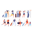 travel people travellers characters person vector image vector image