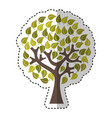 tree plant ecological icon vector image vector image
