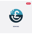 two color repaying icon from user interface vector image vector image