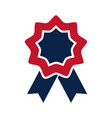 united states elections rosette flag decoration vector image vector image