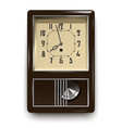 vintage mechanical wall clock with pendulum vector image vector image