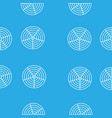 white round circles in the grid on a blue vector image