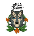 wild animal print for t shirt vector image vector image