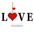 word love concept vector image vector image