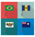 world country flags design vector image