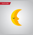 isolated crescent flat icon moon element vector image