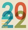 2022 happy new year retro color design template vector image