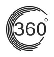 360 degrees angle icon on white background flat vector image