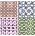Abstract seamless pattern background set vector image vector image