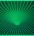 abstract wireframe wormhole space curvature vector image