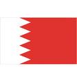 bahraini flag vector image vector image