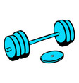 barbell icon icon cartoon vector image vector image