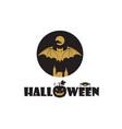 bats and moon vector image