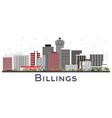 billings montana city skyline with color vector image vector image