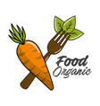biological food icon stock vector image vector image