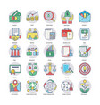 business flat icons pack vector image vector image