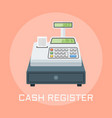 cash register flat design vector image vector image