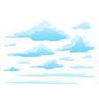 clouds on white background vector image