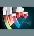 curved colors motion graphics vector image vector image