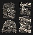 custom motorcycle vintage monochrome labels vector image vector image