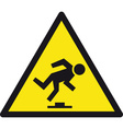 danger tripping hazard safety sign vector image vector image
