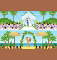 Different wedding ceremonies set traditional