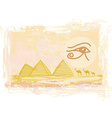 Egypt symbols and Pyramids - Traditional Horus Eye vector image vector image