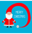 Face of Santa Claus Big hat Merry Christmas card vector image vector image